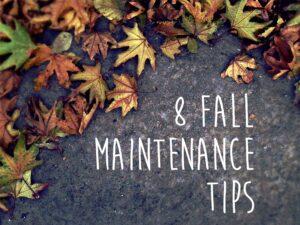 8 homeowner maintenance tips