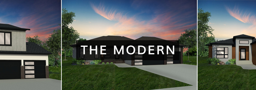 Modern Exterior Home Plan | Thomsen Homes